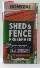 Ronseal Shed And Fence Preserver 5 Litre Light Dark Autumn Brown Green Black